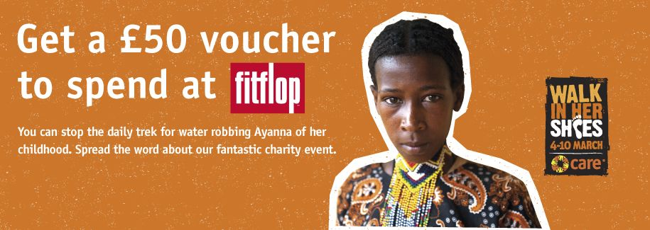 Spread the word about a fantastic charity and get £50 to spend at FitFlop