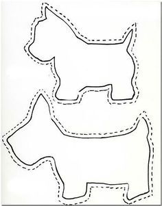 Scottie dog appliques. Perfect for 50s circle skirts