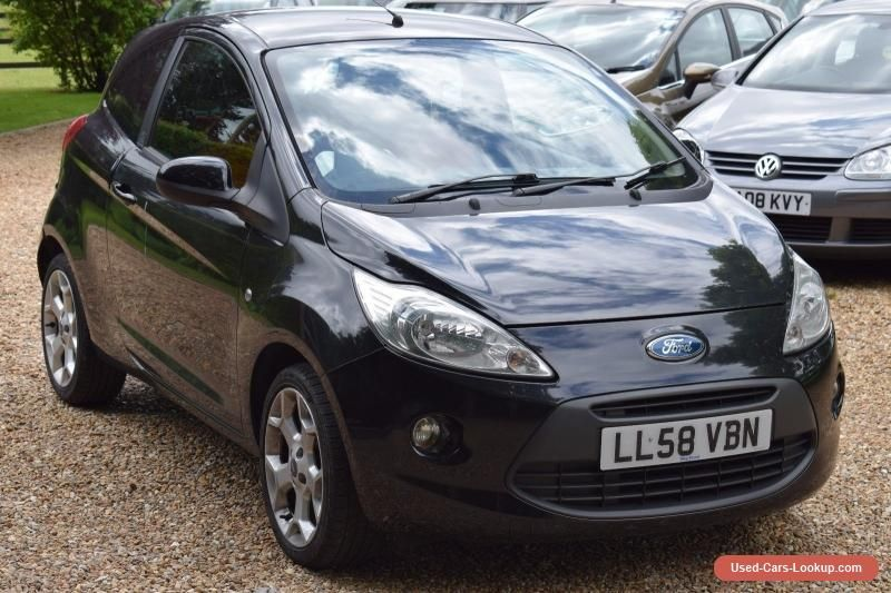2008 58 Ford Ka Zetec 1 2 3dr Black Needs Tlc No Reserve