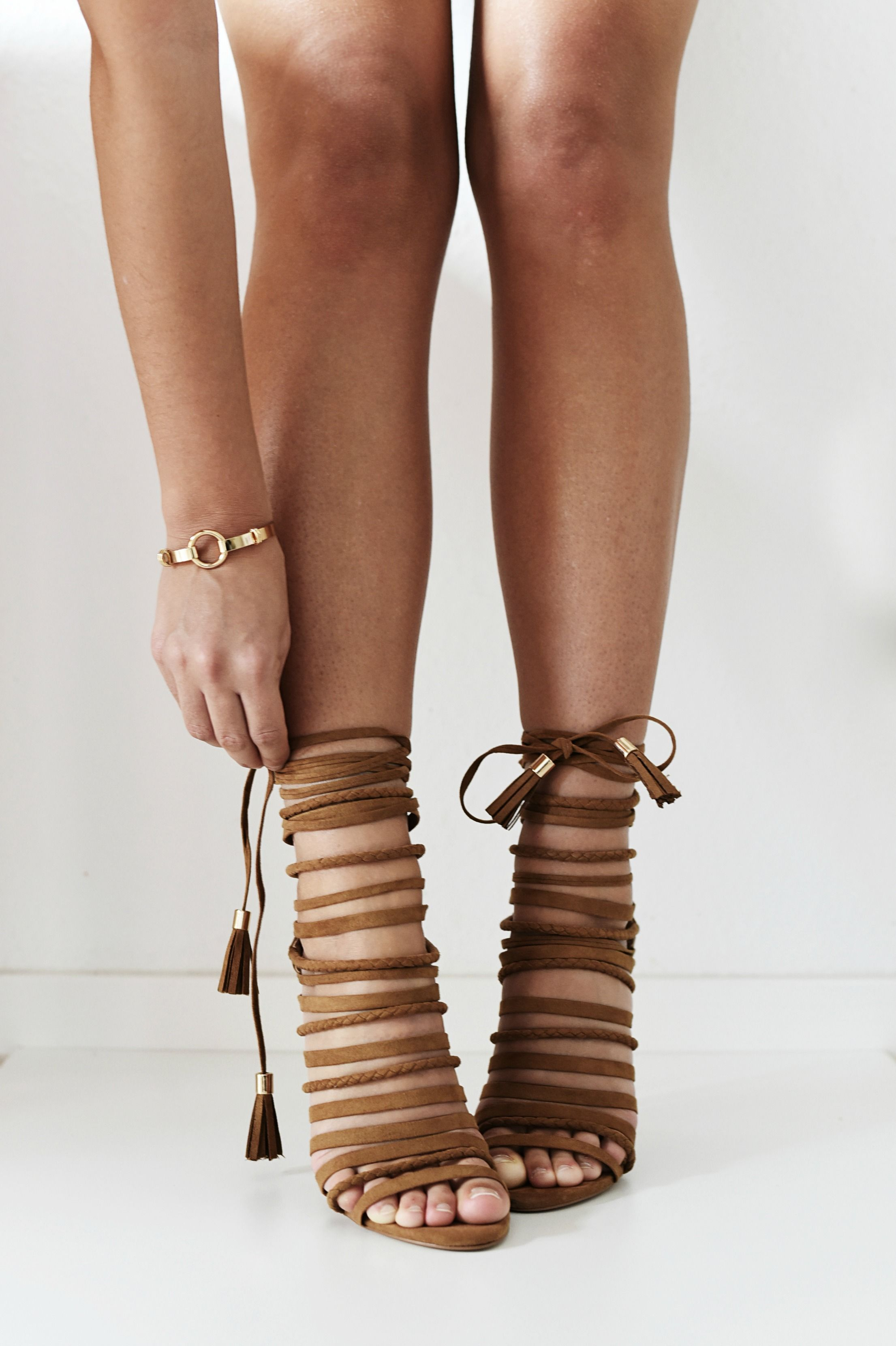 9afd02c34f05 Brown strappy heeled sandals - a statement choice for any time of day!   RIStyleInsiders  FashiionCarpet  NinaSchwichtenberg  RiverIsland