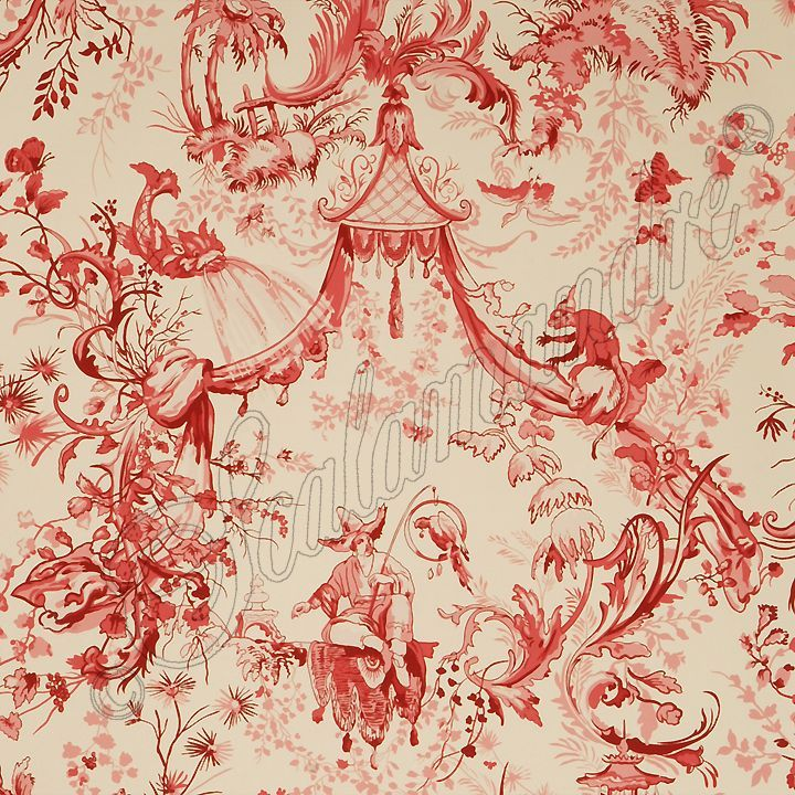 Chinoiserie red toile wallpaper chinoiserie wallpaper valiet org