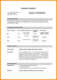 Image Result For Simple Biodata Format For Job Fresher Resume