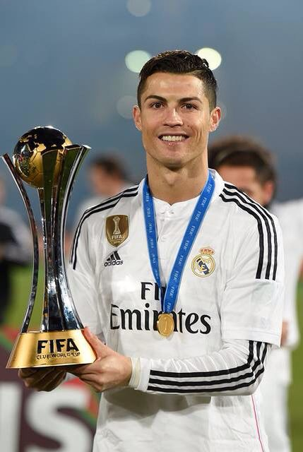 CR7, Real Madrid C.F, the winning moment of the FIFA Club World Cup.