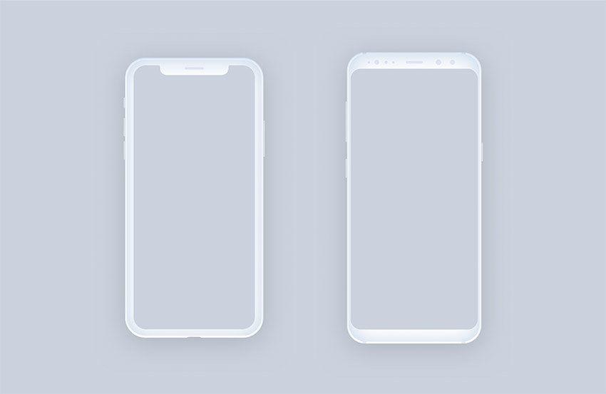 Download Clean And Minimal Mockups Figma Iphone X Samsung S8 Freebiesui Figma Iphone Mockup Texture Graphic Design