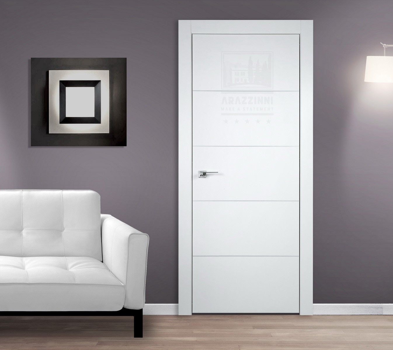 Arazzinni smartpro 4h polar white modern interior door for Contemporary interior doors