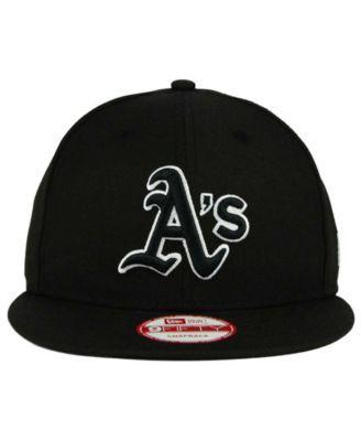 promo code 8070a 3f0ca New Era Oakland Athletics B-Dub 9FIFTY Snapback Cap - Black Adjustable