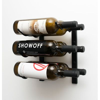 Vintageview Wall Series 6 Bottle Wall Mounted Wine Rack Finish