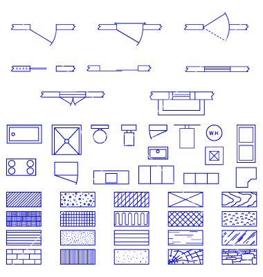 Architecture blueprint symbols vector 75734g 380400 architecture blueprints malvernweather Gallery