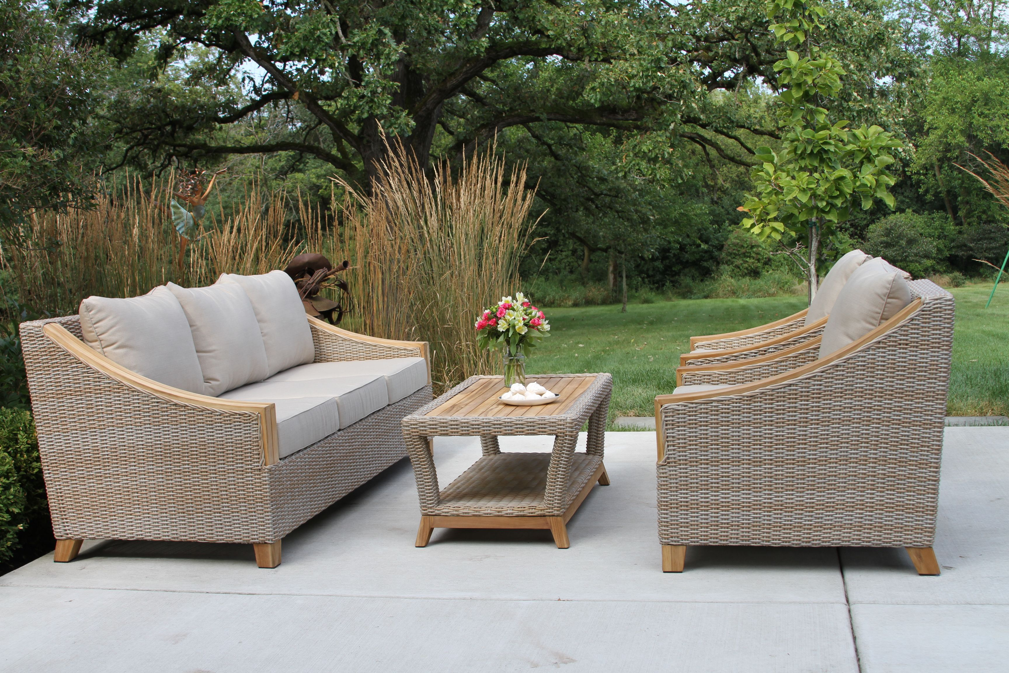 teak outdoor furniture sets wicker