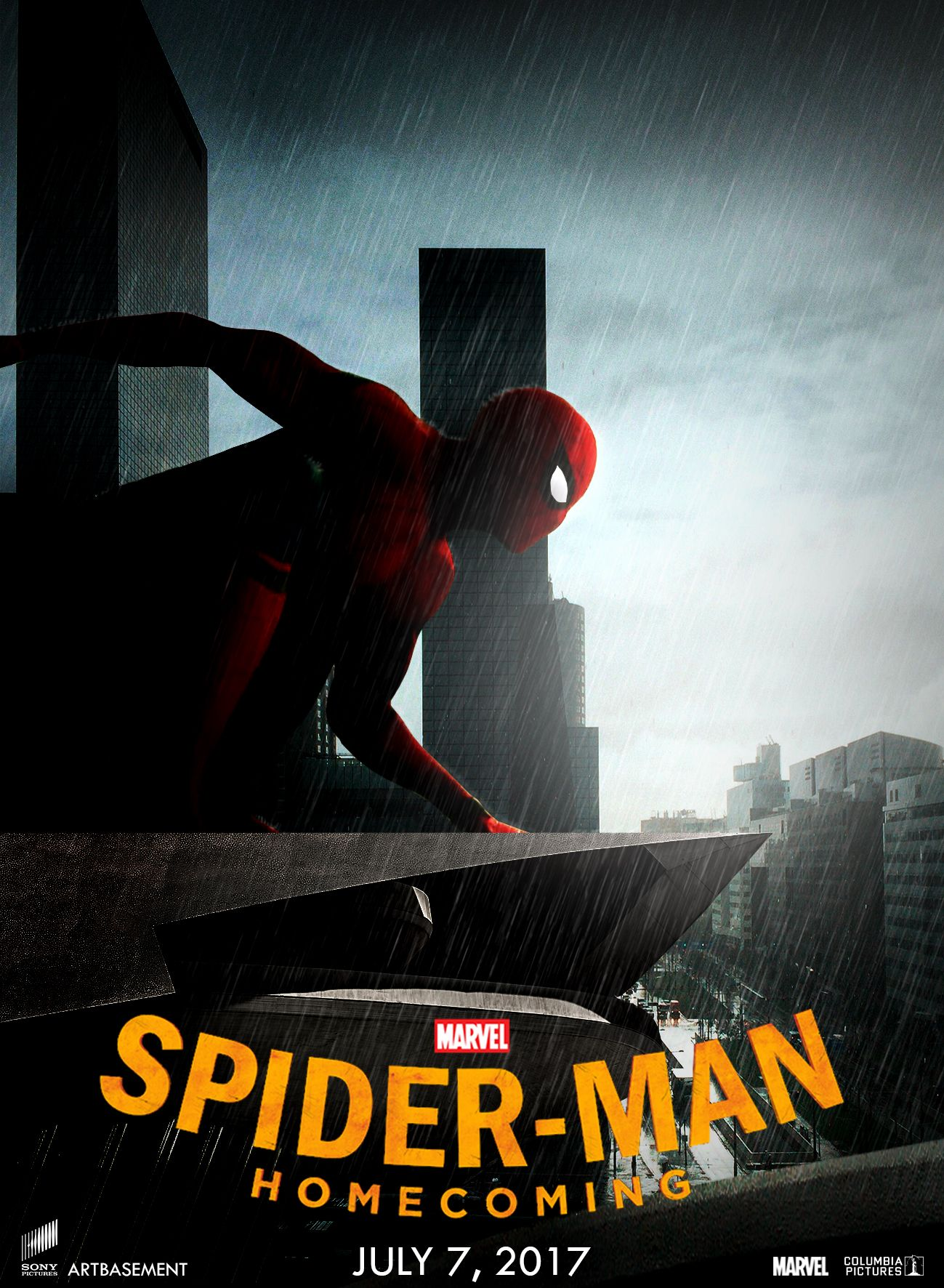 Free online poster design and download - Watch Spider Man Homecoming 2017 Free Online Movie