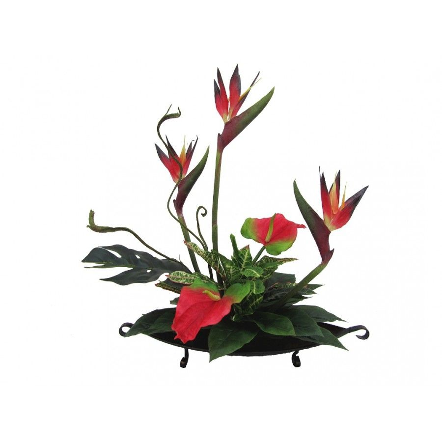 Shop Silk Bird Of Paradise And Anthurium Tropical