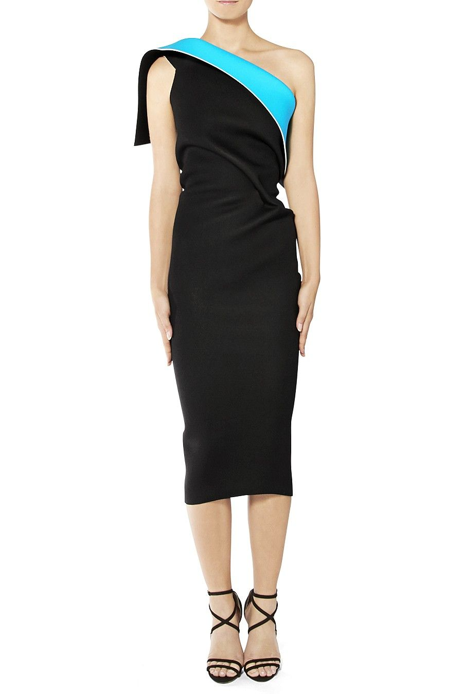Maticevski Optical Cocktail Dress - Black / Turquoise tonimaticevski ...