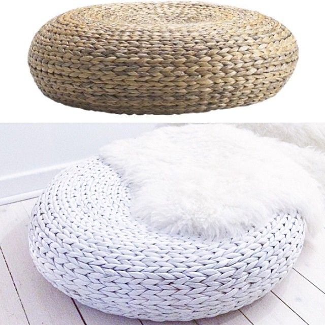 Pouf Ottoman Ikea Alseda❤  Mae Mae  Pinterest  Ikea Hack Entertainment Room And