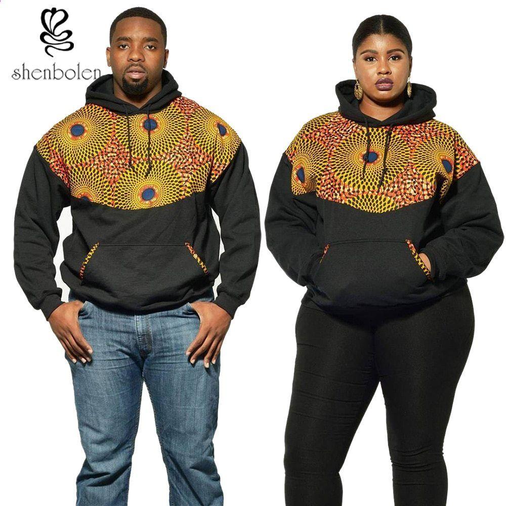 78ac8786039a Čepice Shenbolen Mikiny pro muže a ženy s dlouhým rukávem Africká ankara  vosk tisková látka móda mikiny kabát