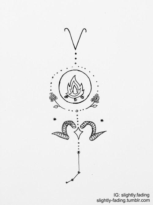 ee29e25aad1e6 Aries Zodiac Tattoo Ideas   Tats   Zodiac sign tattoos ...