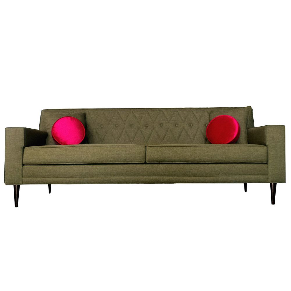 Green Nicolette Quilted Sofa Ping The Best Prices On Sofas Loveseats