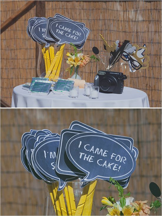 photo booth ideas   Wedding Chicks featured Marsha & Trent's wedding today. See more photos, stories, and inspiration at: http://www.weddingchicks.com/2014/03/12/santa-barbara-yellow-and-gray-wedding/