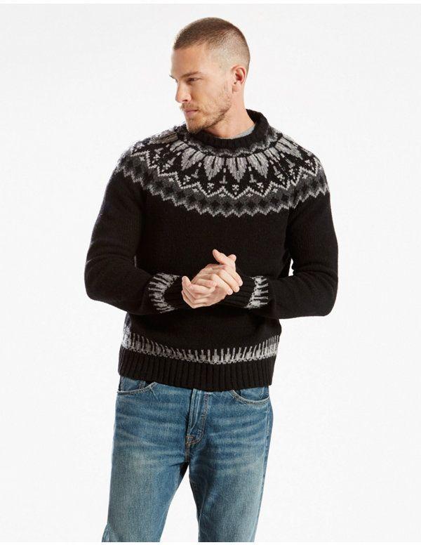Wool Fair Isle Crew Sweater Levi's | Style | Pinterest | Fair ...