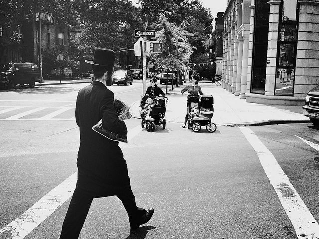 Hasidic life. Williamsburg, NY.