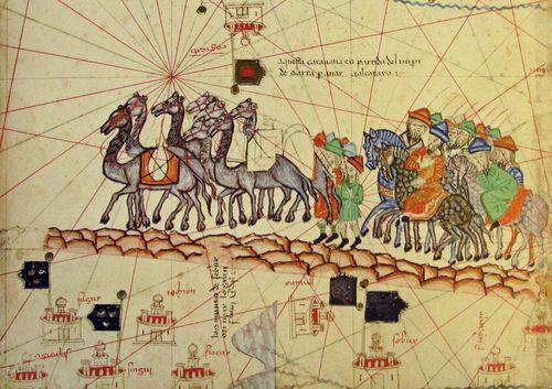 Catalan Atlas Silk road, Silk route, Marco polo