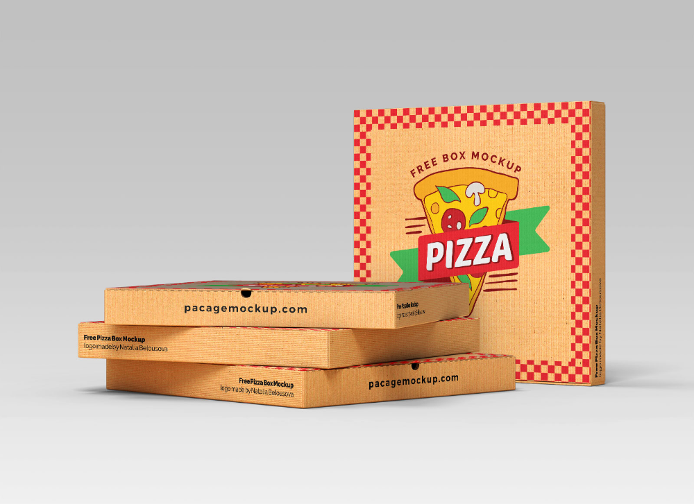 Free Open Closed Pizza Box Packaging Mockup 3 Set In 2021 Packaging Mockup Pizza Box Design Box Mockup