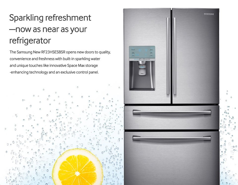This Is The Best Fridge Ever Sparkling Water On Demand Samsung