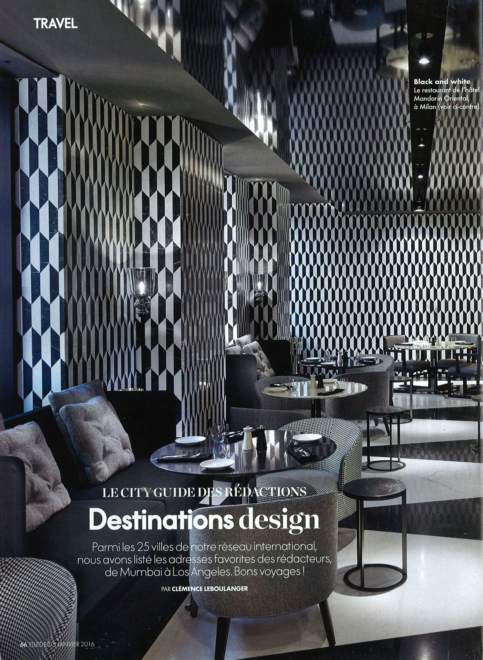 Tile Decor Papier Peint Tile De Cole And Son Dans Le Magazine Elle Decoration