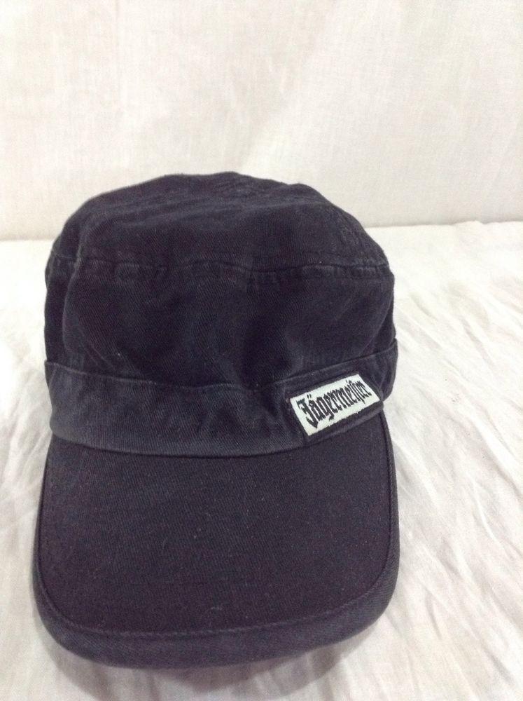 aab91bea Ladies Cadet Jagermeister Hat Adjustable Black Liquor Military style ...