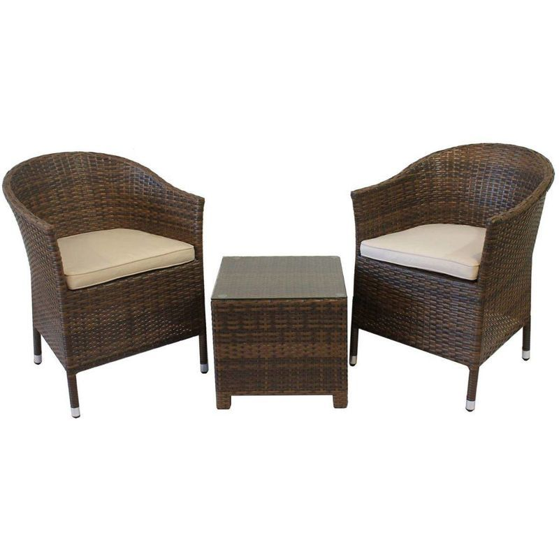 Guidetti Set Asti En Polyrattan Marron Ou Blanc Marron Gu Asti M Outdoor Chairs Home Decor Furniture