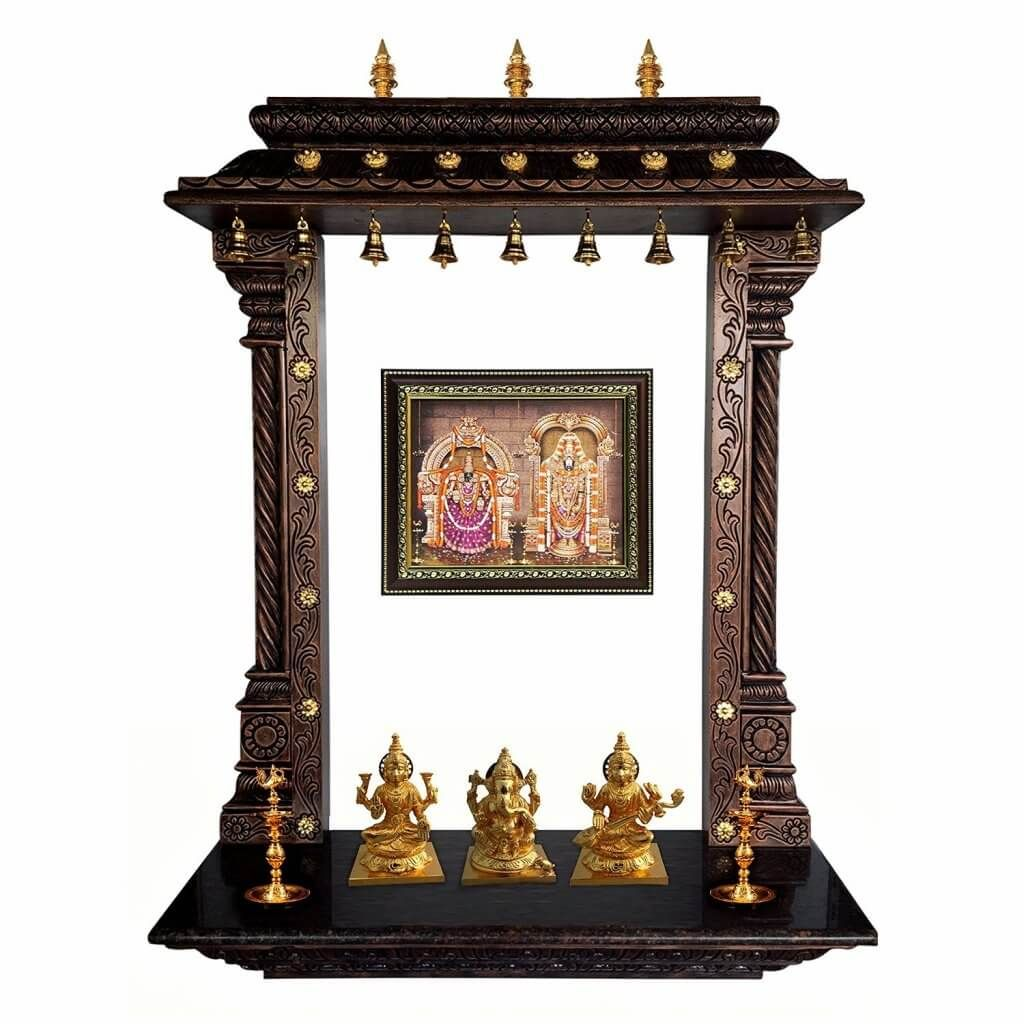 Pooja room mandir designs room puja room and photo wall for Home mandir designs marble