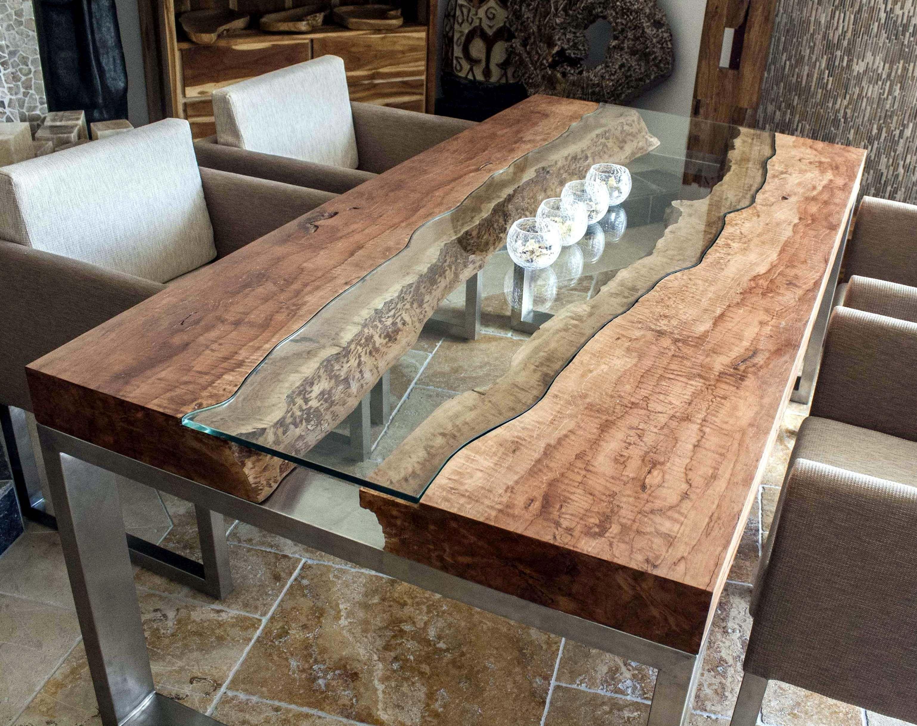 DER TISCHONKEL Designertisch Massivholztisch mit Glas und Edelstahl R³Å¼e Pinterest
