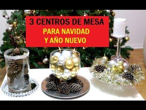 Super facil y economica decoracion para navidad 2do dia - Youtube centros de mesa navidenos ...