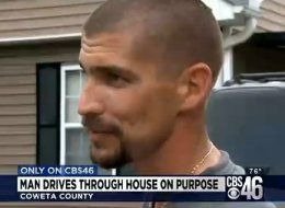 Frustrated Man Drives Truck Through Own House