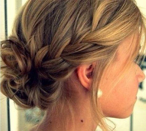 Simple Updo Braid Bridesmaid Hair Hair Updos For Bridesmaids
