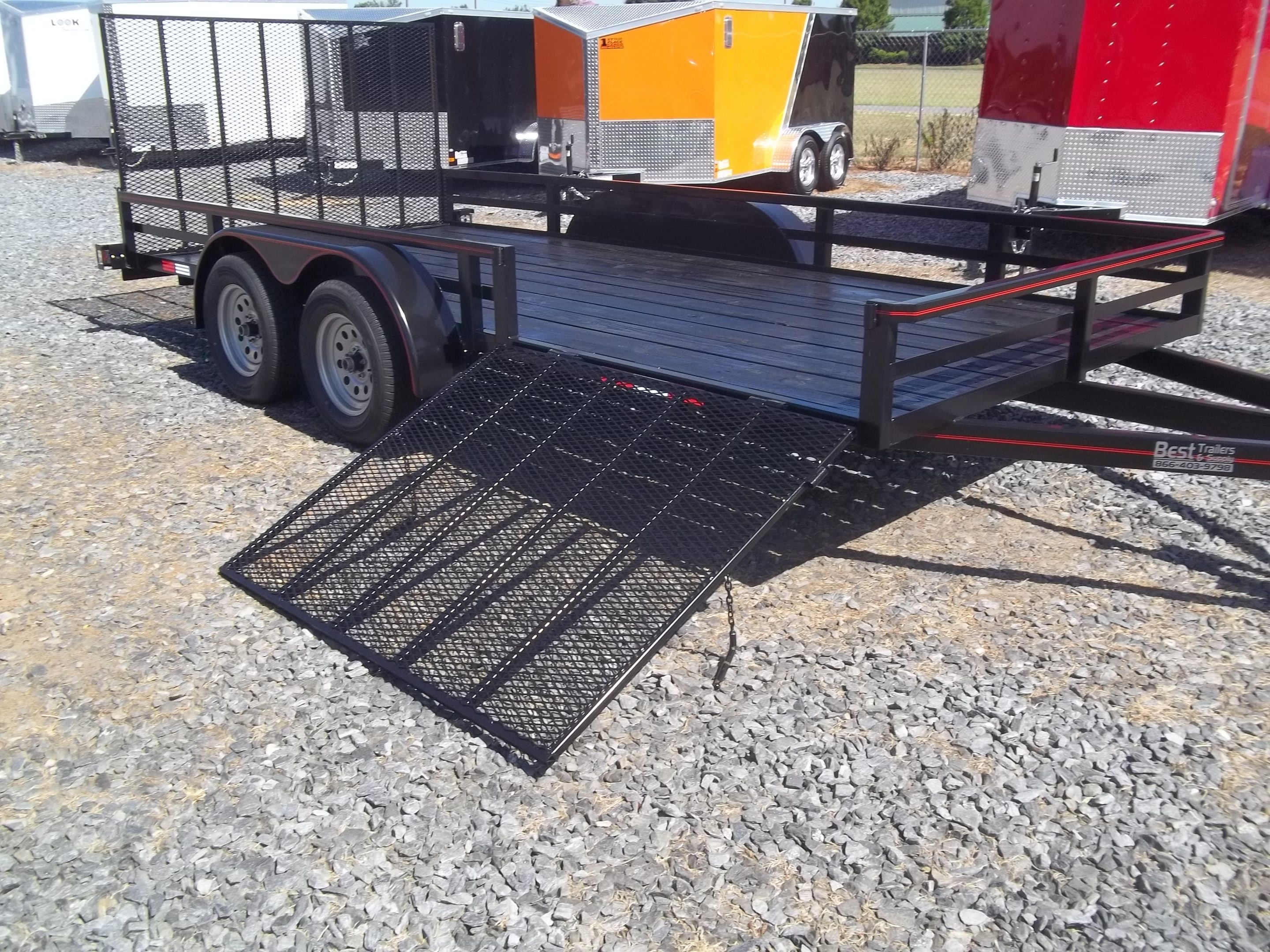 small resolution of 7 x 16 with side load gate utility trailer