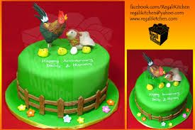 Image result for chicken birthday cake decorations