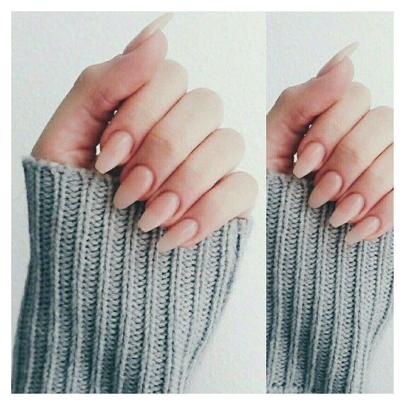 Acrylic, nude, long nails