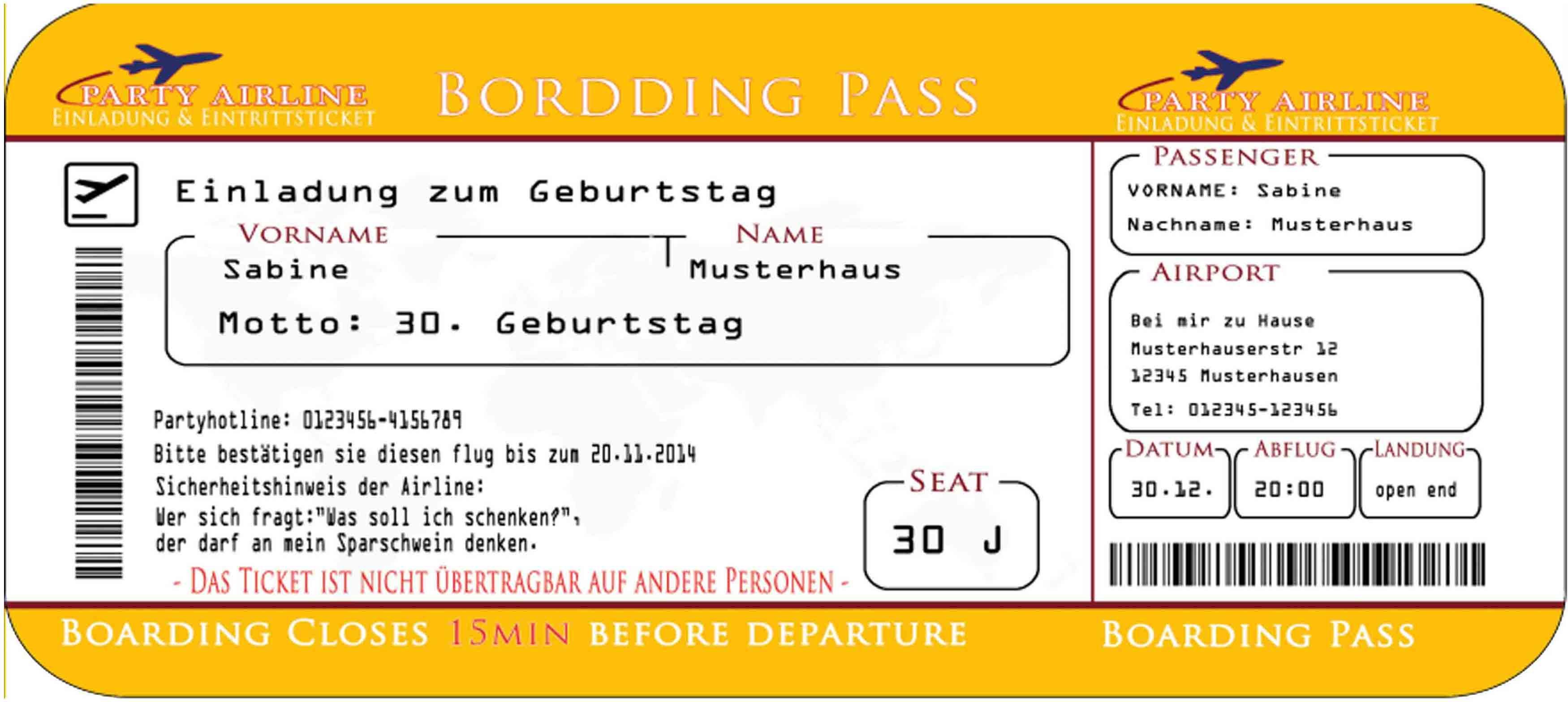 einladungskarte als flugzeug flugticket 10 cards karten etc pinterest einladungskarten. Black Bedroom Furniture Sets. Home Design Ideas