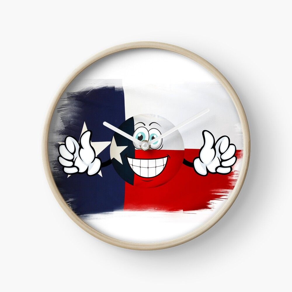 Get My Art Printed On Awesome Products Support Me At Redbubble Rbandme Https Www Redbubble Com I Clock Texas Texas Flag In 2020 Usa Flag Flag Emoji American Flag