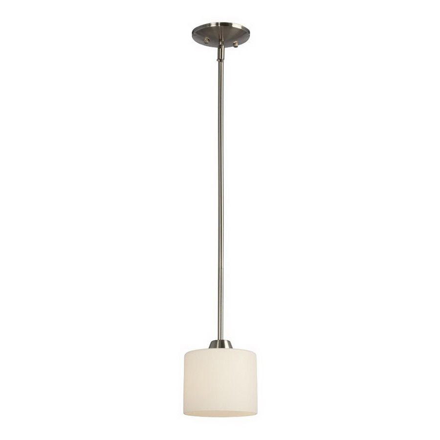 Lowes Pendant Lights For Kitchen Endearing Shop Galaxy 6In W Drummond Brushed Nickel Mini Pendant Light With 2018