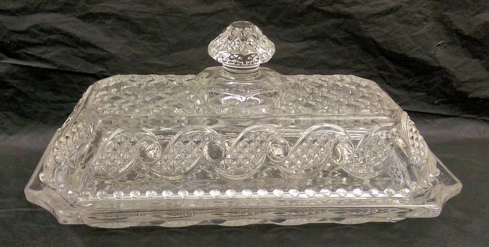 Vintage Avon Clear Glass Crystalucent Covered Butter Dish Free Shipping Vintage Avon Avon Clear Glass