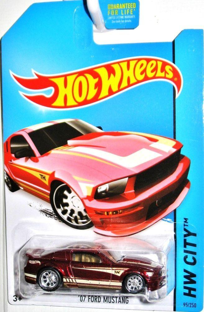 2007 Ford Mustang Super Treasure Hunt 2013 Hot Wheels City 95 250 Metallic Red Hotwheels Ford Hot Wheels Cars Toys Hot Wheels Toys Hot Wheels