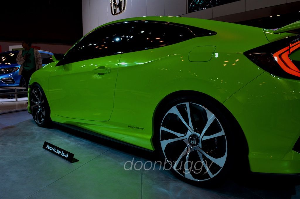 2016 Global Civic announced at NY Auto Show 2015 .. photo by doonbuggy #honda #hondacivic #civic #globalcivic #hondaconcept #autoshow #nyautoshow #green #hondadesign