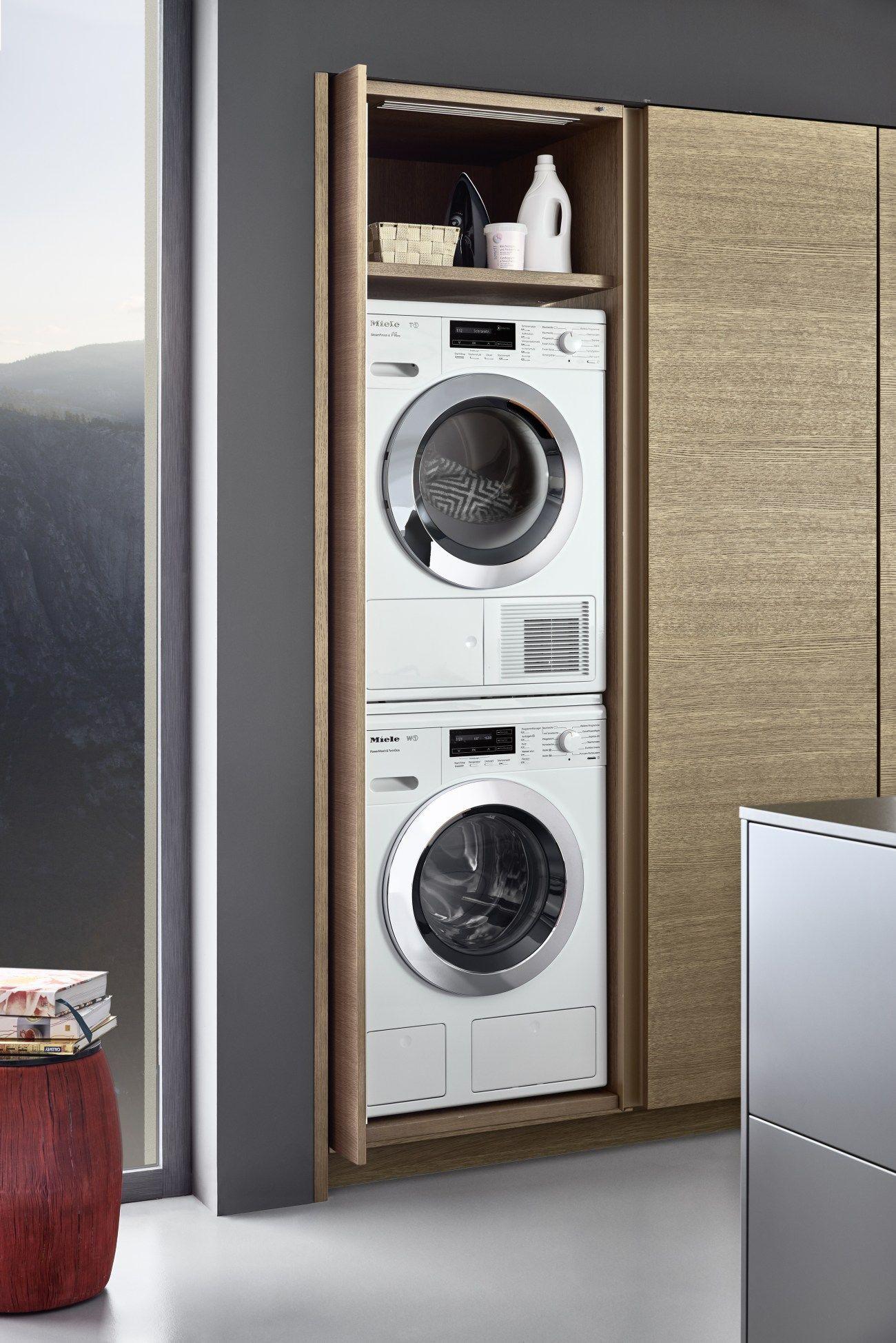 Machine A Laver Dans La Cuisine Design Buanderie Armoires De