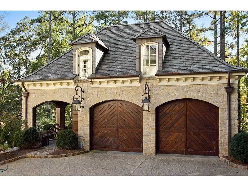 Elegant Garage Door Panel Designs Fit This Lovely Garage And Grand Home Entrance Realtor Com Garage Guest House Garage Door Design Garage House