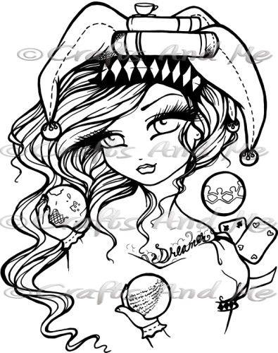 Punch of Colour Girls 9 Digital Stamp | HANNAH LYNN | Pinterest ...