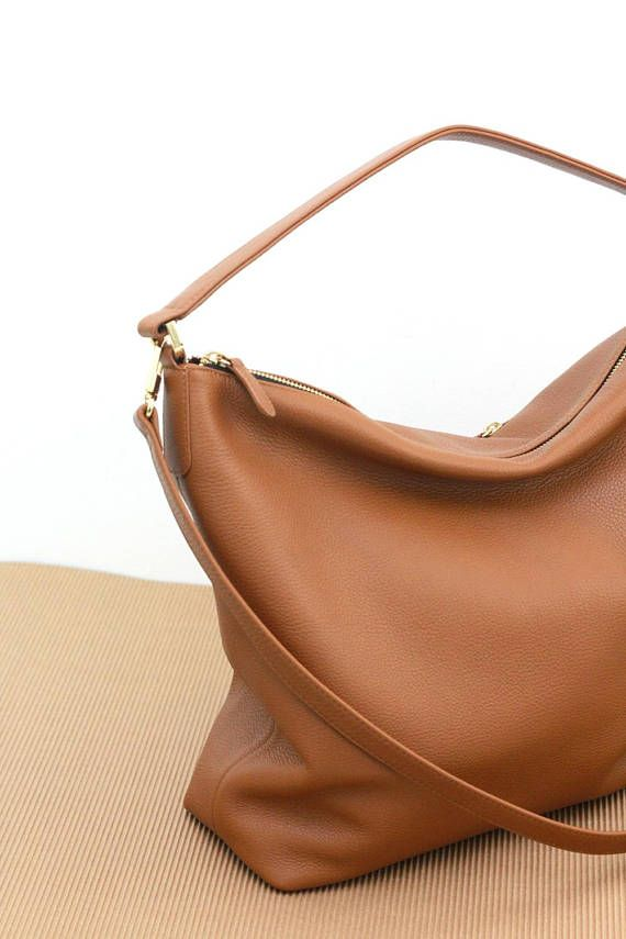322b3a5e0c83 NELA hobo leather bag in tan   camel brown ❥ Buttery soft leather! ❥ This