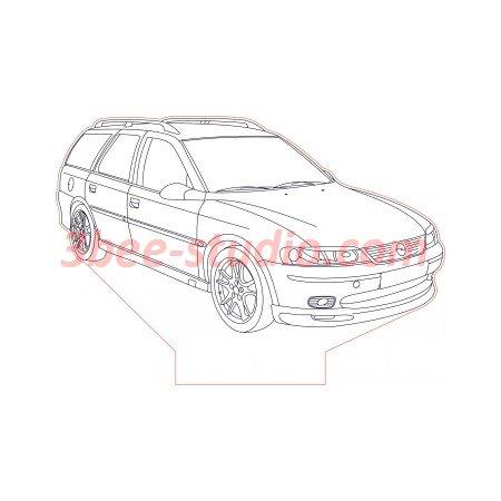 2001 Opel Vectra B Caravan 3d Illusion Lamp Plan Vector File Op For Laser And Cnc 3bee Studio 3d Illusion Lamp 3d Illusions Illusions