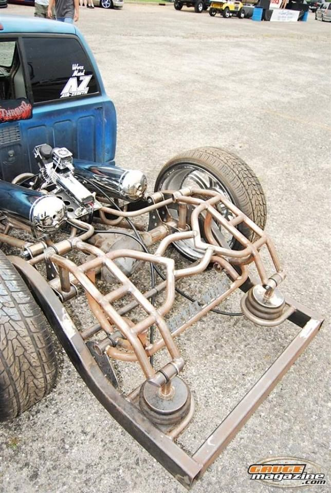 Cantilever rear suspension with air bags Mini trucks