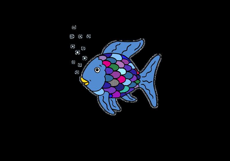 Lesespurgeschichte Der Regenbogenfisch Regenbogenfisch Regenbogen Fisch Buch Fisch Geschichten